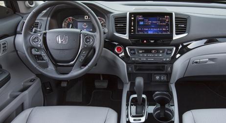 2017 honda ridgeline pickup truck interior