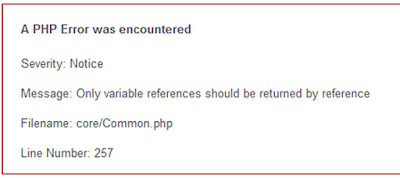 "Cara mengatasi error ""Only variable references should be returned by reference"" di codeigniter 2.x.x"