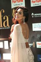 Prajna Actress in backless Cream Choli and transparent saree at IIFA Utsavam Awards 2017 0089.JPG