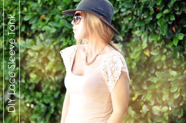 DIY gifts, Lace Sleeved Tank