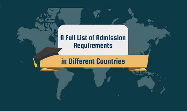 List of Admission Study Abroad Requirements