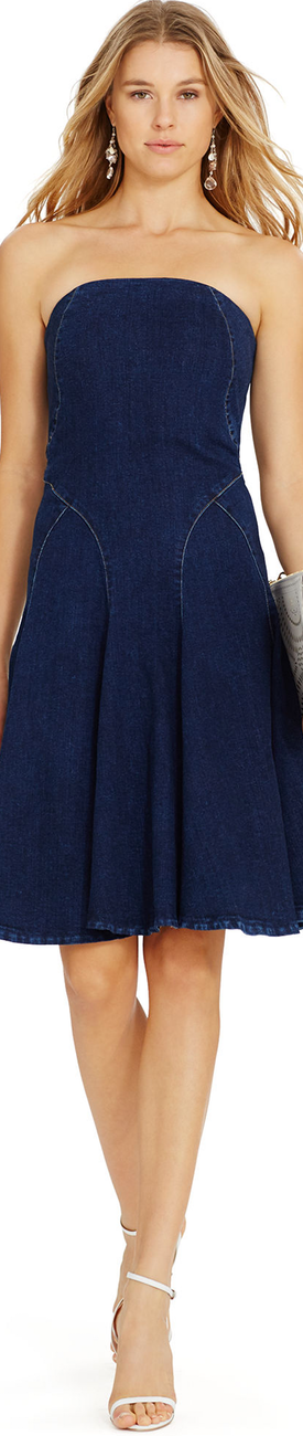 Ralph Lauren Strapless Denim Dress