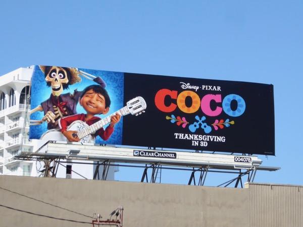Disney Pixar Coco movie billboard