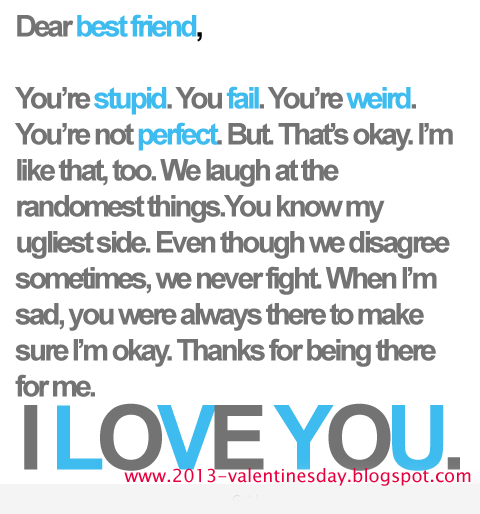 I Love U Friend Quotes: I Love You Quotes 2016 For Valentines Day
