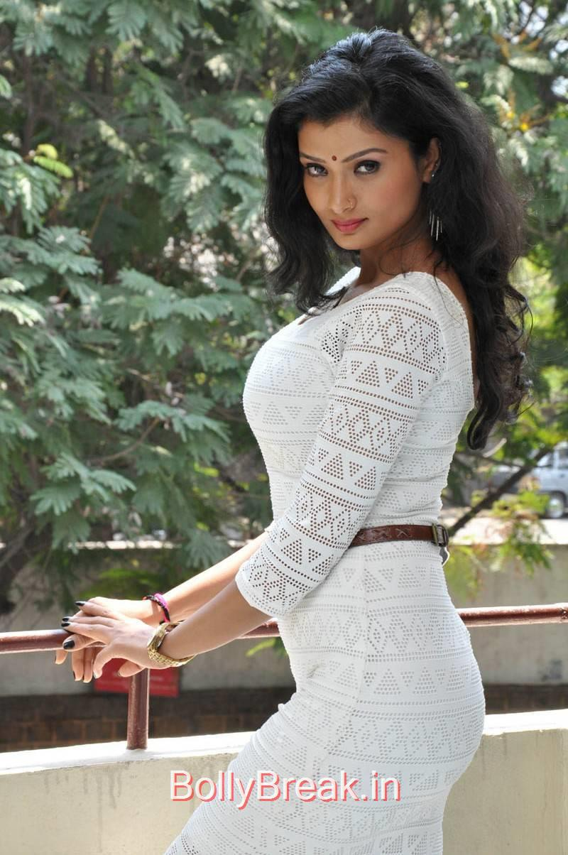 Ishita Photos, Actress Ishita Standing Full Size HD Hot Pics in White Dress