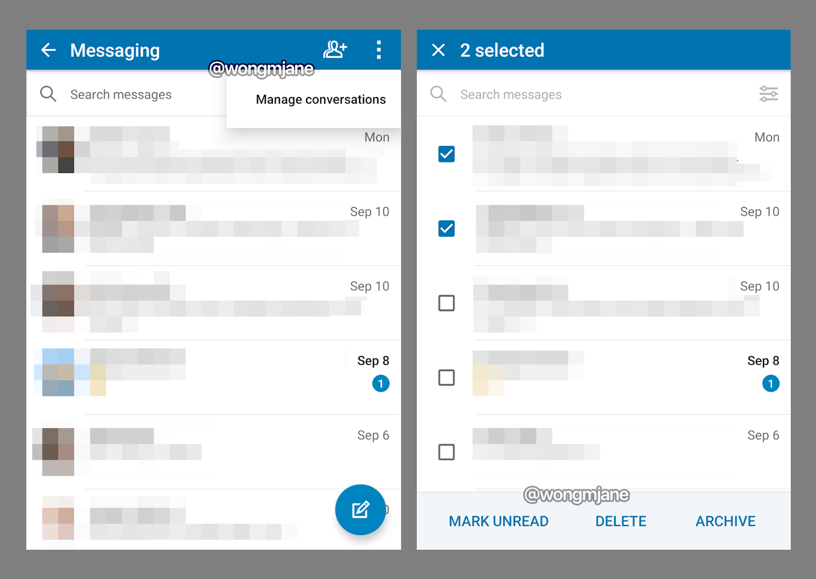 """LinkedIn is testing """"Manage conversations"""" that allows managing multiple message threads in batch"""