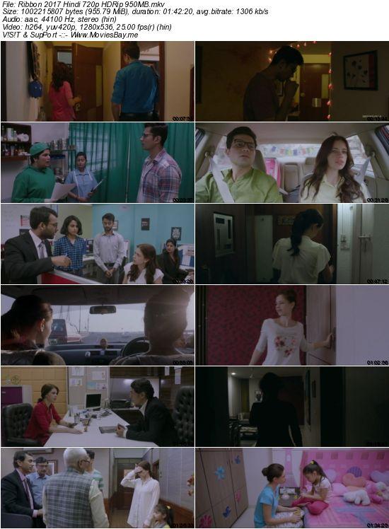 Ribbon 2017 Hindi 720p HDRip 950MB worldfree4u
