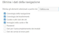 Cancellare cache ed eliminare cookie su Firefox, Chrome, Safari, IE