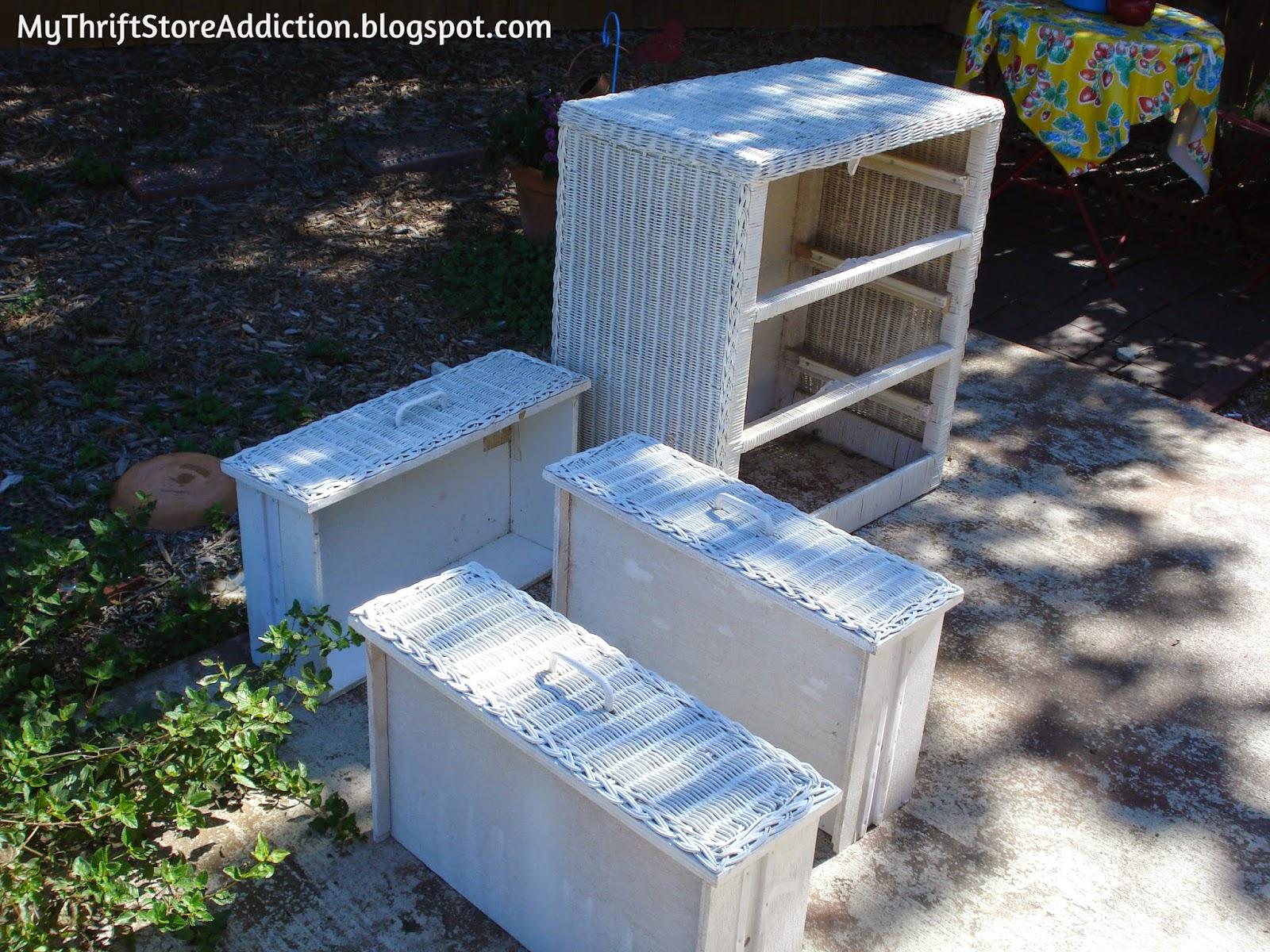 $5 Yard Sale Wicker Dresser