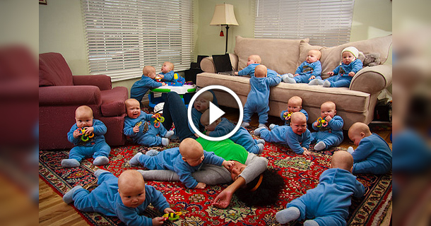 Mother Gives Birth To 17 Babies At Once in USA!