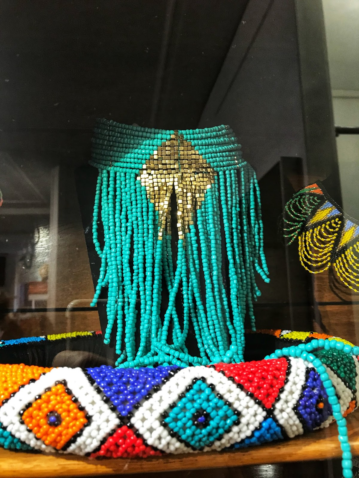 Colourful beaded necklaces Lady Africa Shopping in The Hague