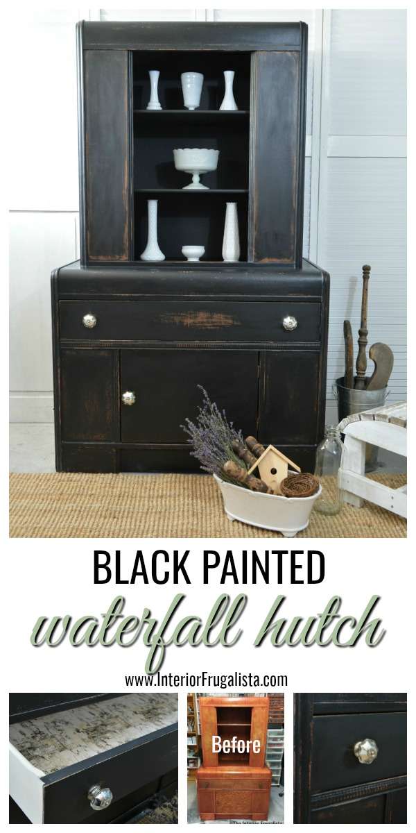 Black Painted Waterfall Hutch