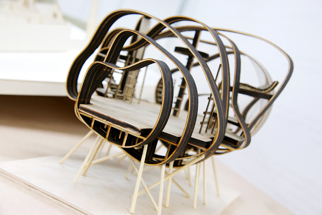 model of wavy slats structure