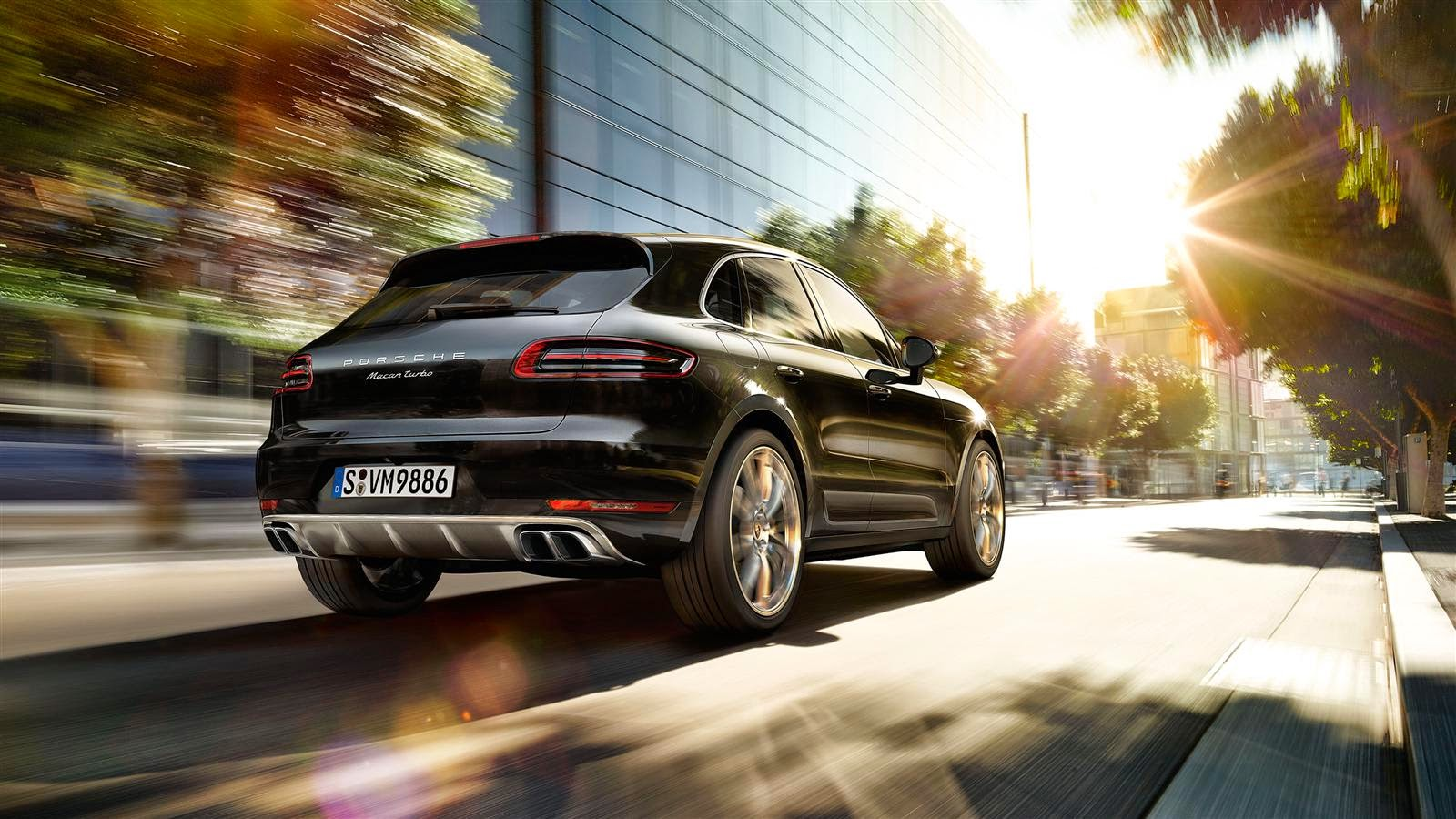Porsche Macan Turbo Back View Image