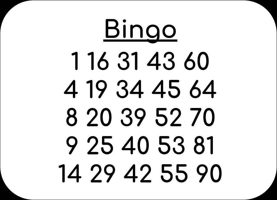 Bingoscheine Für 90 Kugel Bingo