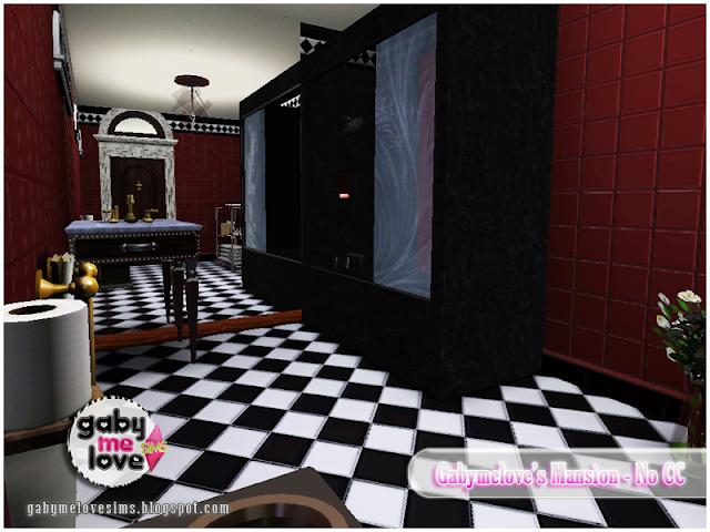 Gabymelove's Mansion |NO CC| ~ Lote Residencial, Sims 3. Baño Principal.