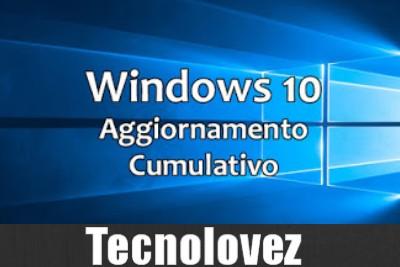Windows 10 - Disponibile terzo aggiornamento cumulativo di luglio 2019