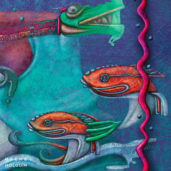 """Ilustración. Mito """"La ciudad encantada de Huancabamba"""""""