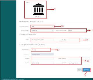 maka langkah selanjutnya yang harus dilakukan yaitu  Cara Melengkapi Data Madrasah Aplikasi PDUM
