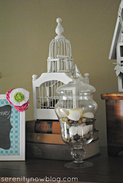Summer Vignette on a Dime Ideas, Serenity Now blog