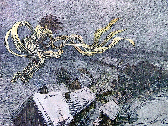 a 1900s Jaroslav Panuska image of a European Witch or Pagan