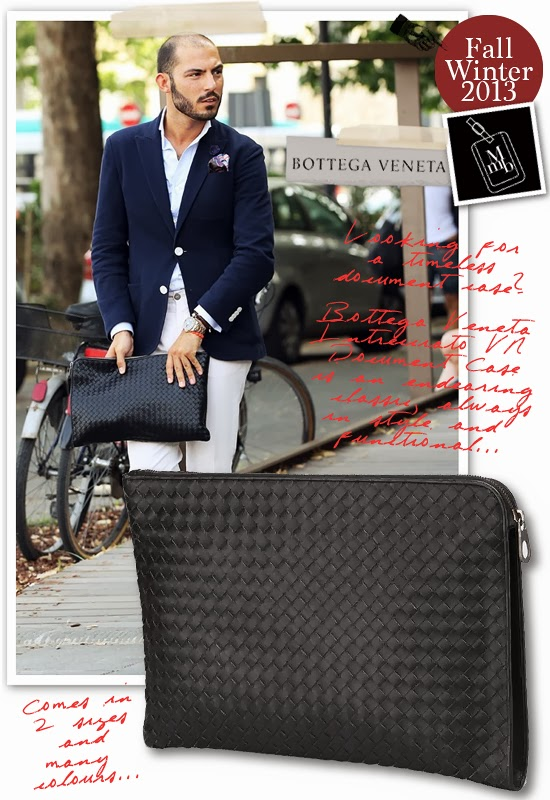 Below  Bottega Veneta Intrecciato VN Document Case works best with  sartorial styles... classic and understated but instantly recognisable by  the signature ... ce96ef3bfb032