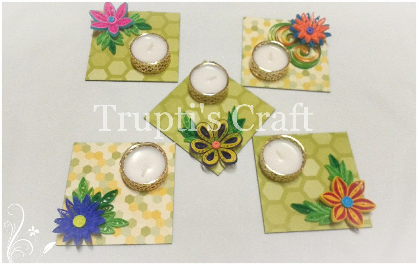 Trupti\'s Craft: Paper Quilling Candle Holder