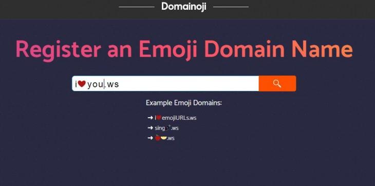 Dominio con emojis