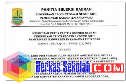 Pengumuman Seleksi Administrasi CPNS Kab Karawang 2018