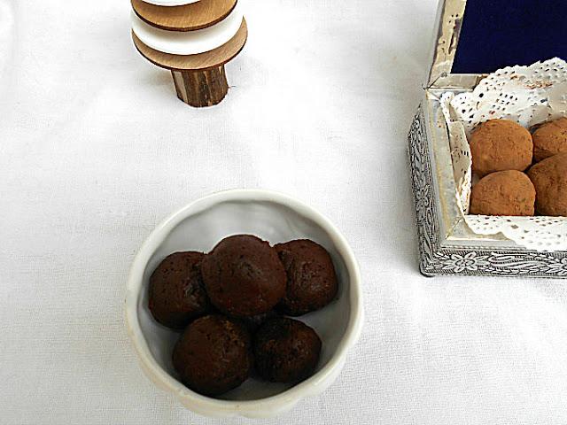 trufas sem açúcar de chocolate
