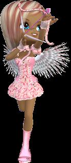 Abecedario de Osito Cupido.