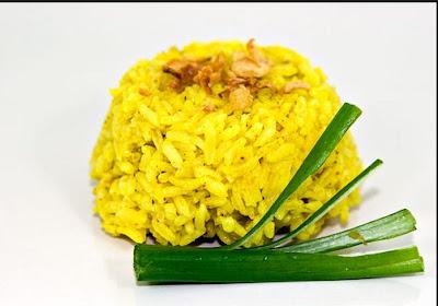resep nasi kuning, nasi kuning, nasi kuning blueband