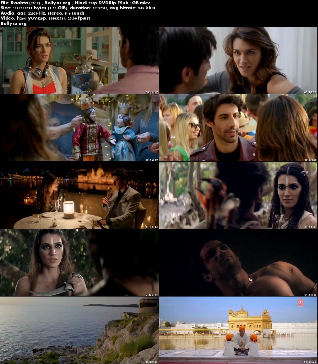 Raabta 2017 DVDRip 1Gb Full Hindi Movie Download 720p