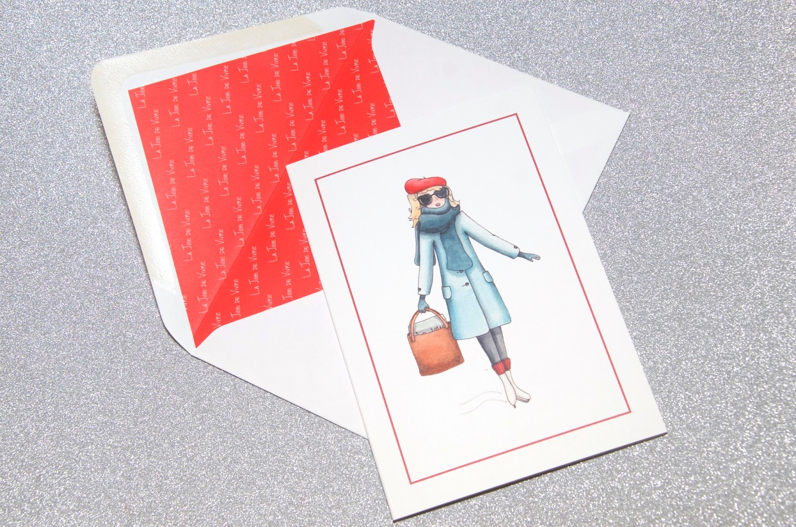 Card with girl ice skating