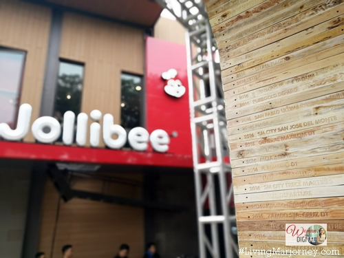 Jollibee 1000th Store Commemorative Marker engraved with all Jollibee store branches
