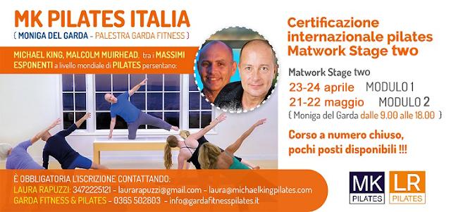 Certificazione internazionale Pilates Matwork Stage Two Modulo 1 e 2, 23-24 aprile e 21-22 maggio 2016 a Moniga del Garda con Michael King e Malcolm Muirhead