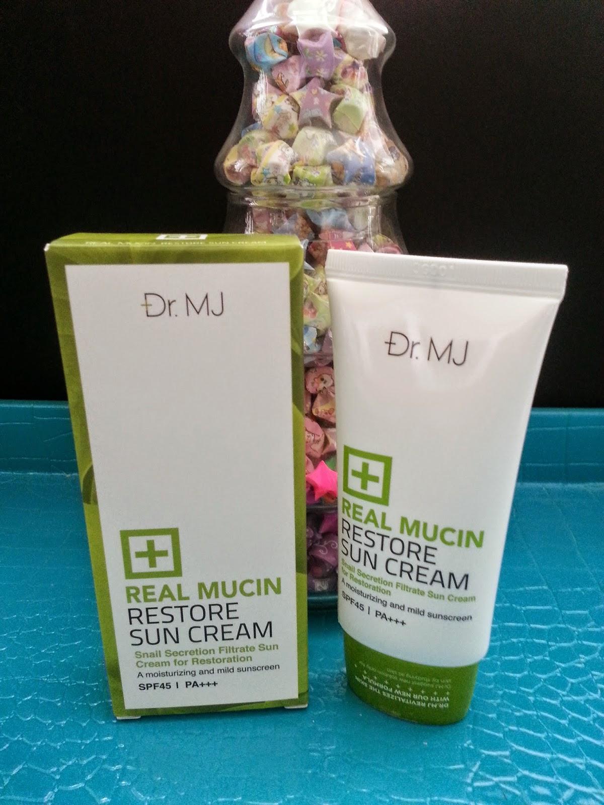 Dr. MJ Real Mucin Restore Sun cream SPF45 PA+++