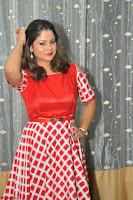 Shilpa Chakravarthy looks super cute in Red Frock style Dress 023.JPG