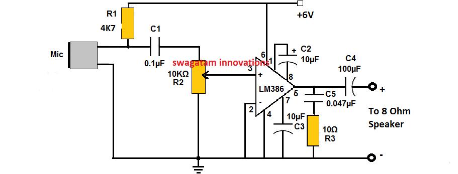 Lm386 Amplifier Circuit Explained