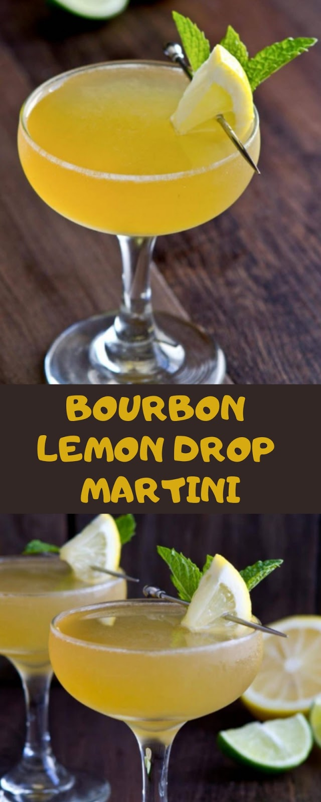 BOURBON LEMON DROP MARTINI