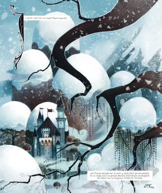 Page de Blanche-Neige par Lylian, Veissillier et Grosjean chez Delcourt