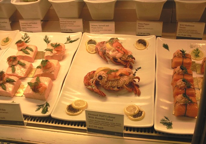 Seafood in Harrods Food Hall