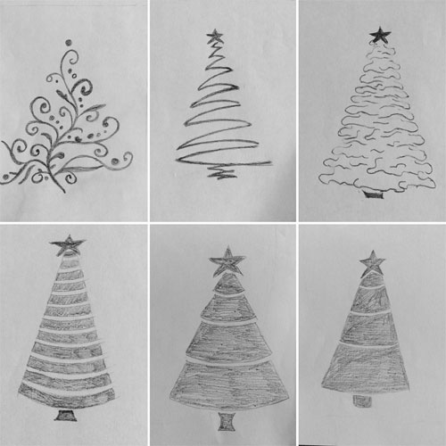drawing christmastree