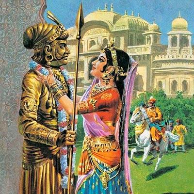 पृथ्वीराज चौहान व राजकुमारी संयोगिता का अमर-प्रेम