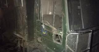 مجموعة ارهابية تستهدف سيارة أمن مركزى بمنطقة كافور المعادى