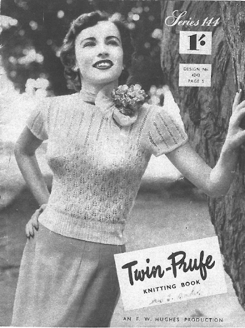 free knitting pattern patterns 1950s twinprufe twin prufe booklet scan