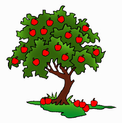 Gambar Pohon Apel Kartun Lucu Apple Tree Cartoon Pictures Wallpaper