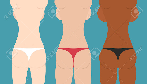 Beautiful Girls In Bikini Spin And Booty Woman Body Vector Illustration  Stock Vector