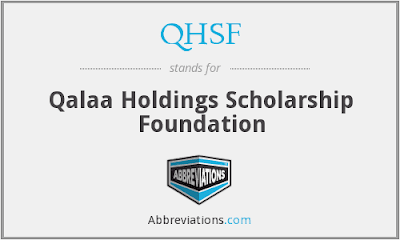 Qalaa Holdings Scholarship Foundation (QHSF) 2018/2019 Graduate Scholarships for Egyptian Students