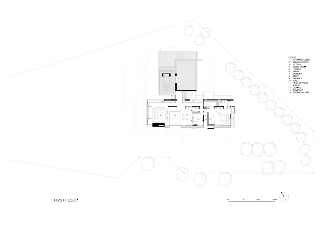Picture of modern villa first floor plan